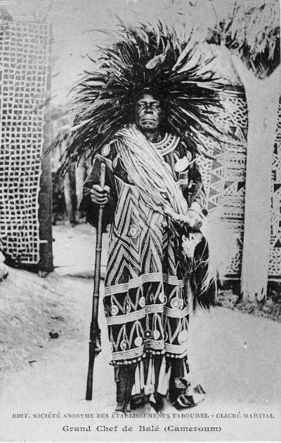 Great chief of Balé, King Fonyonga II of Bali-Nyonga, 1901–40. Cameroon, 1935