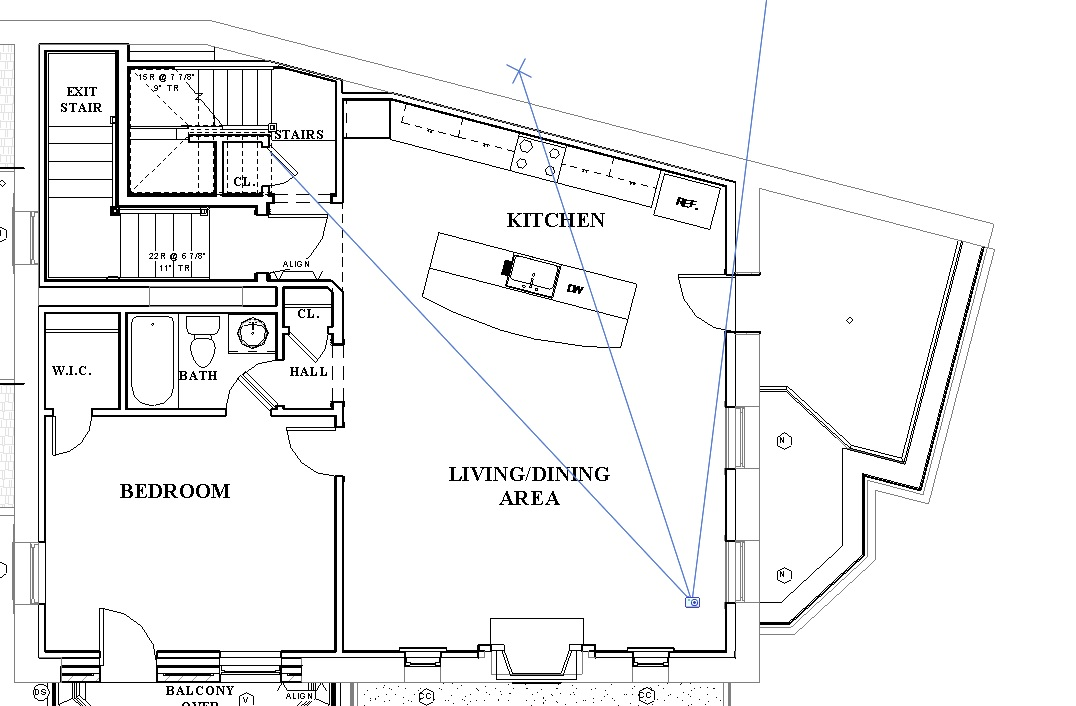 FLOOR PLAN SHOWING CAMERA BEING POSITIONED