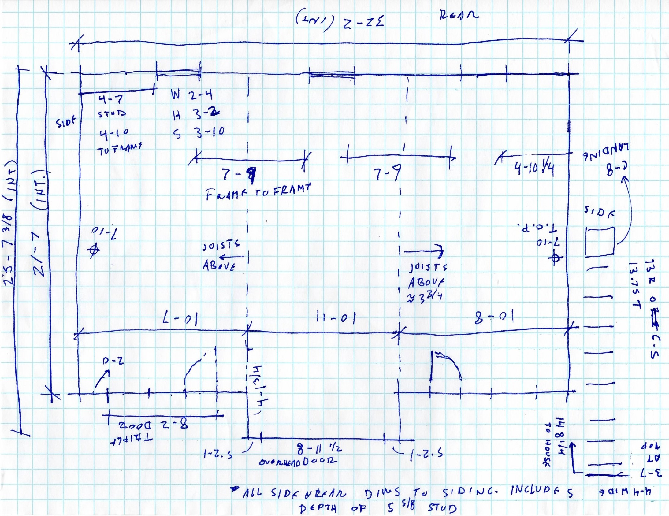 Takoma Home Office  field measure notes