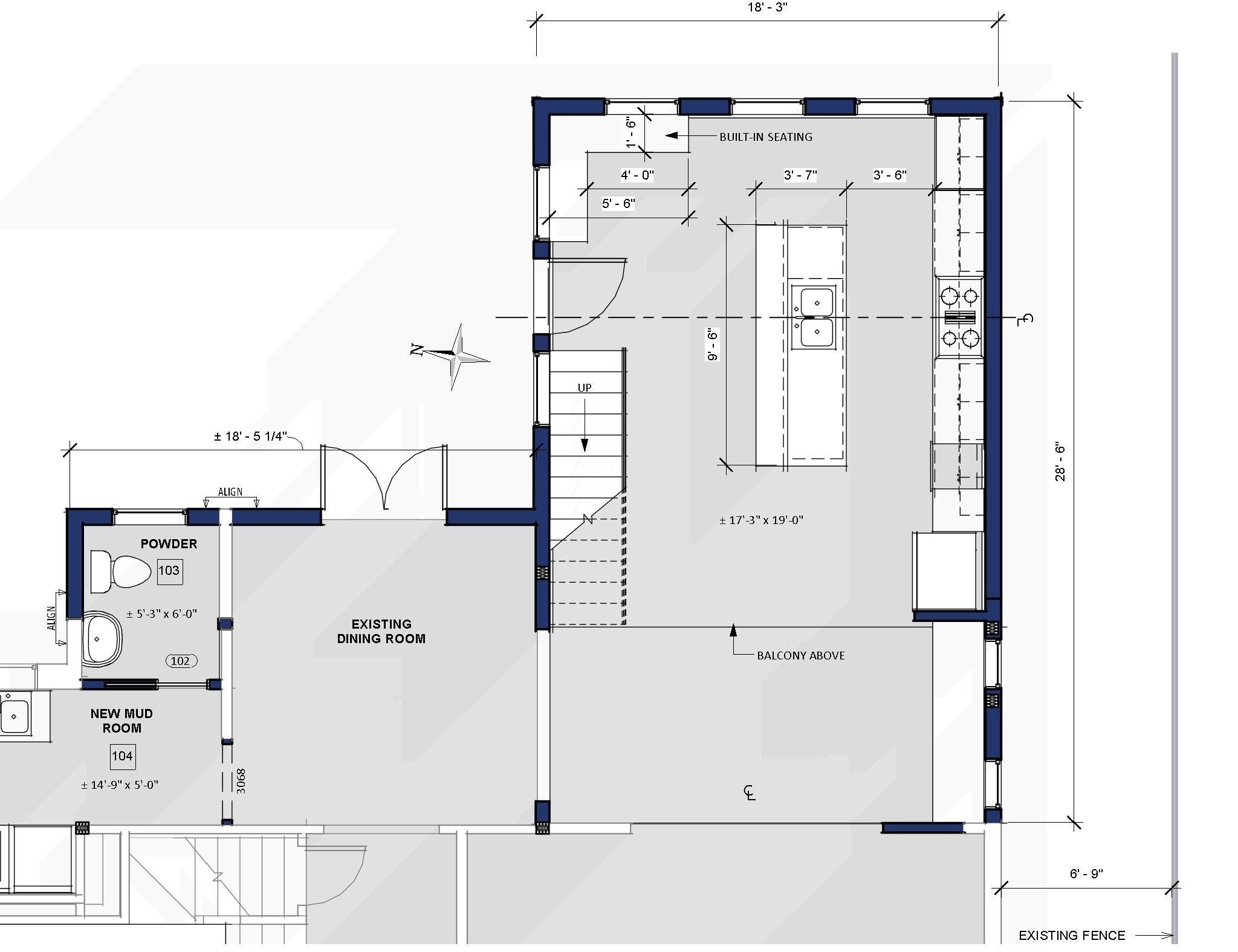 Schematic Design of a new kitchen