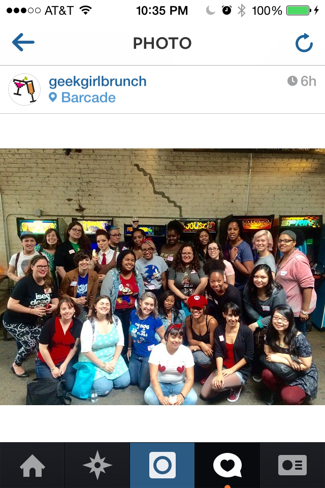 Photo from Geek Girl Brunch Instagram