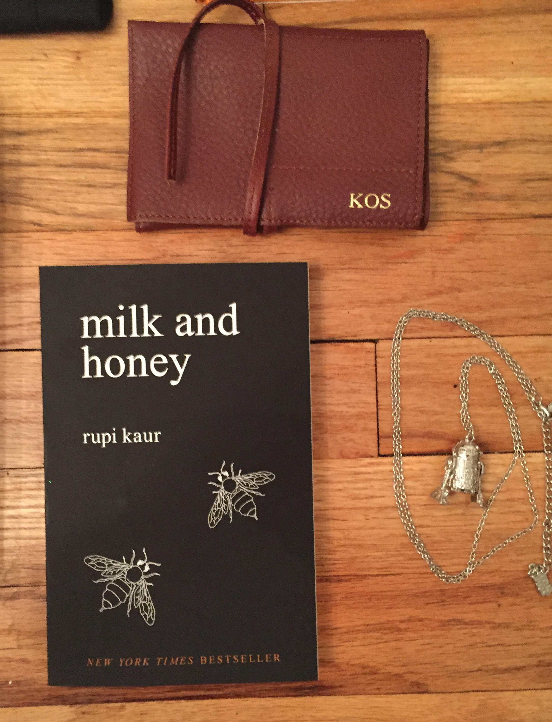 Mark & Graham embroidered wallet     Milk & Honey by. Rupi Kaur