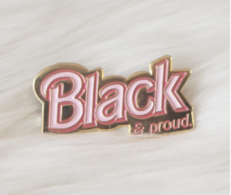 Black & Proud Doll Inspired Cute Enamel Pin $13