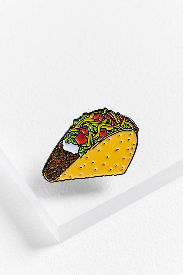 YESTERDAYS CRUNCHY TACO PIN $12