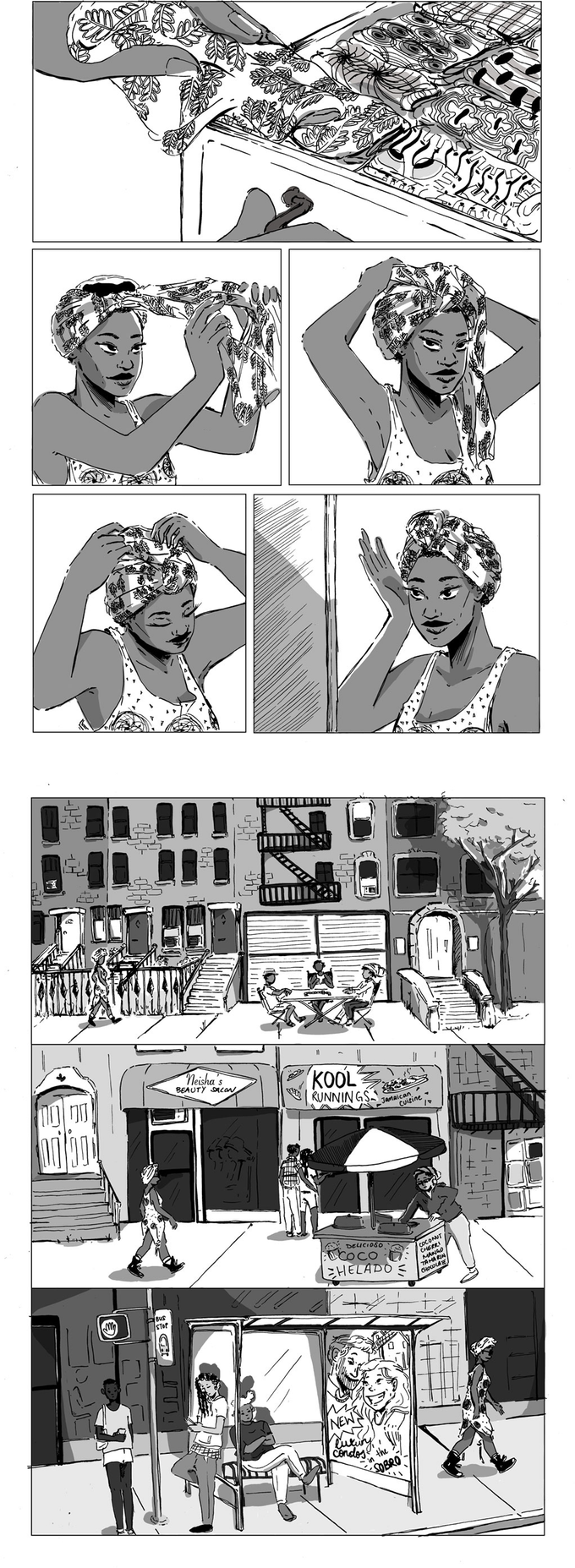 Preview pages, illustration by  Robyn Smith