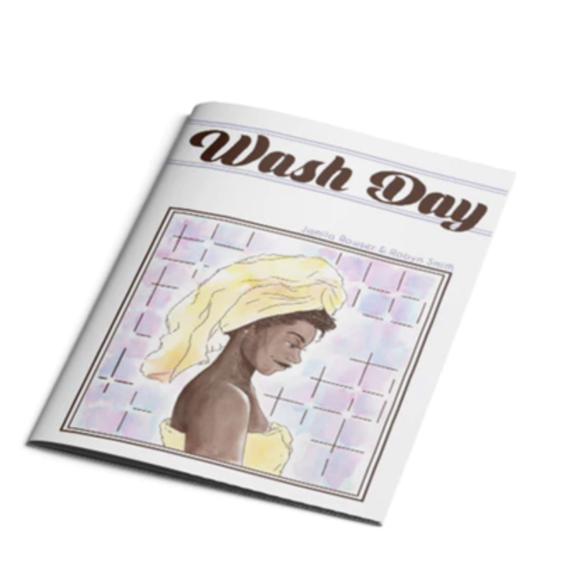 A physical copy of the comic book,  Wash Day