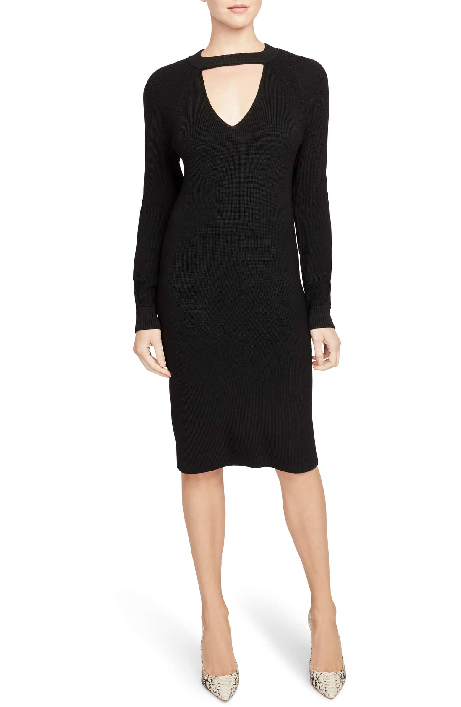 Keyhole Detail Sweater Dress RACHEL ROY COLLECTION
