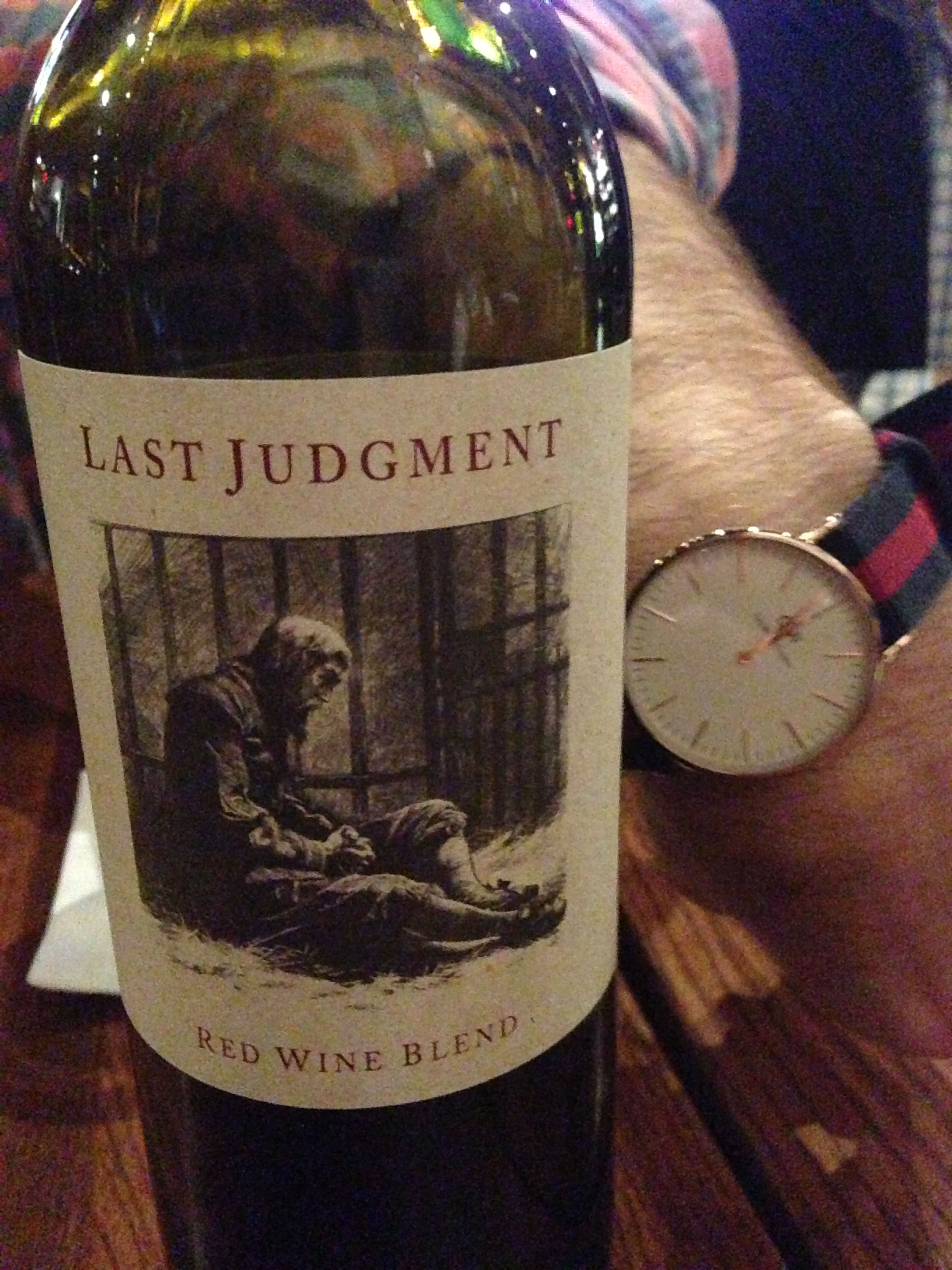 We may or may not have gone to a wine bar afterwards and split a bottle of this delightful red blend. ALSO please notice MainSqueeze's sleek and amazing timepiece. (More to come when I publish the Man Style Guide)