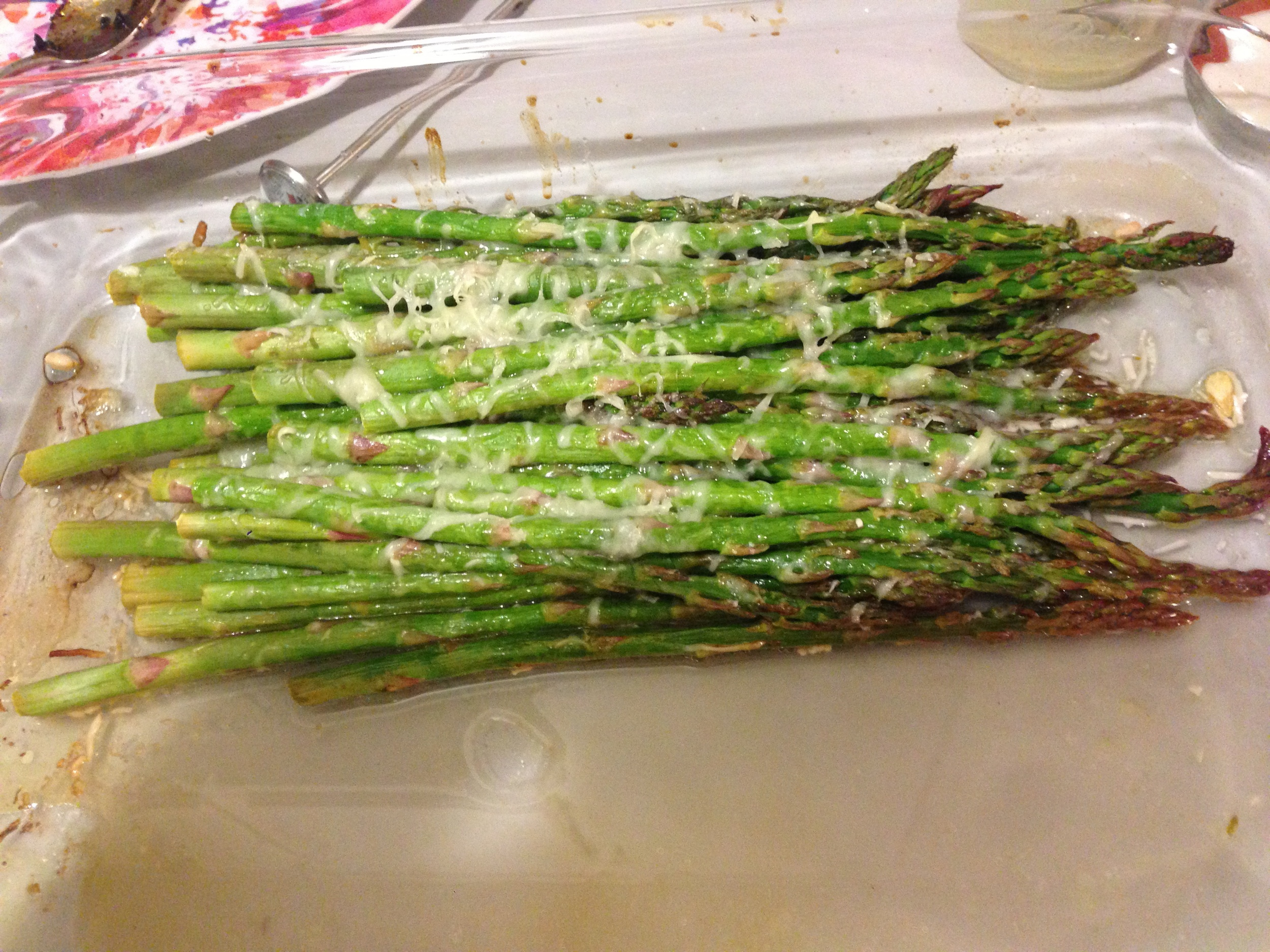 Roasted Asparagus with Gruyere and a lemon butter sauce.