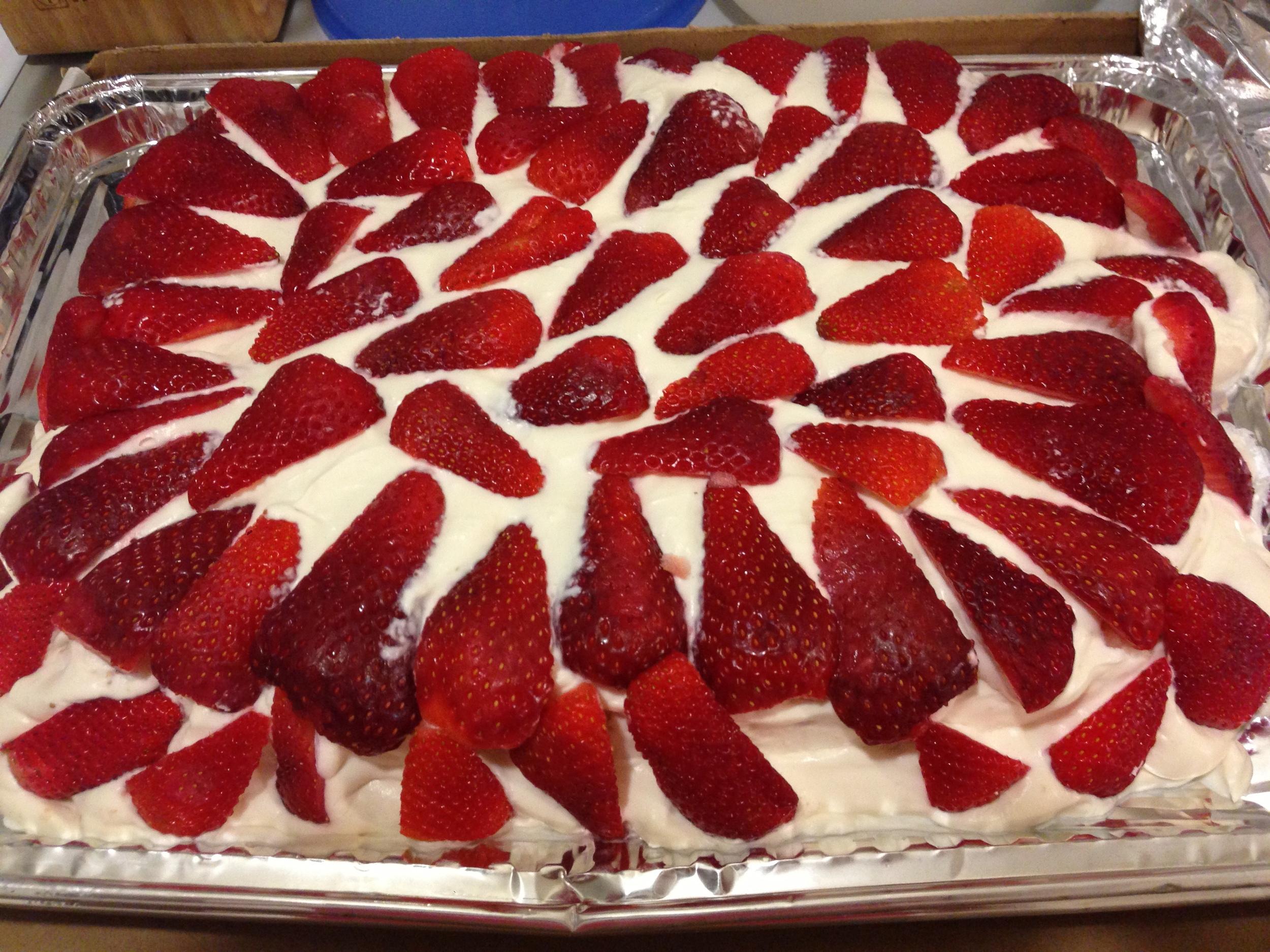 Fresh strawberries and homemade whipped cream. #NOM