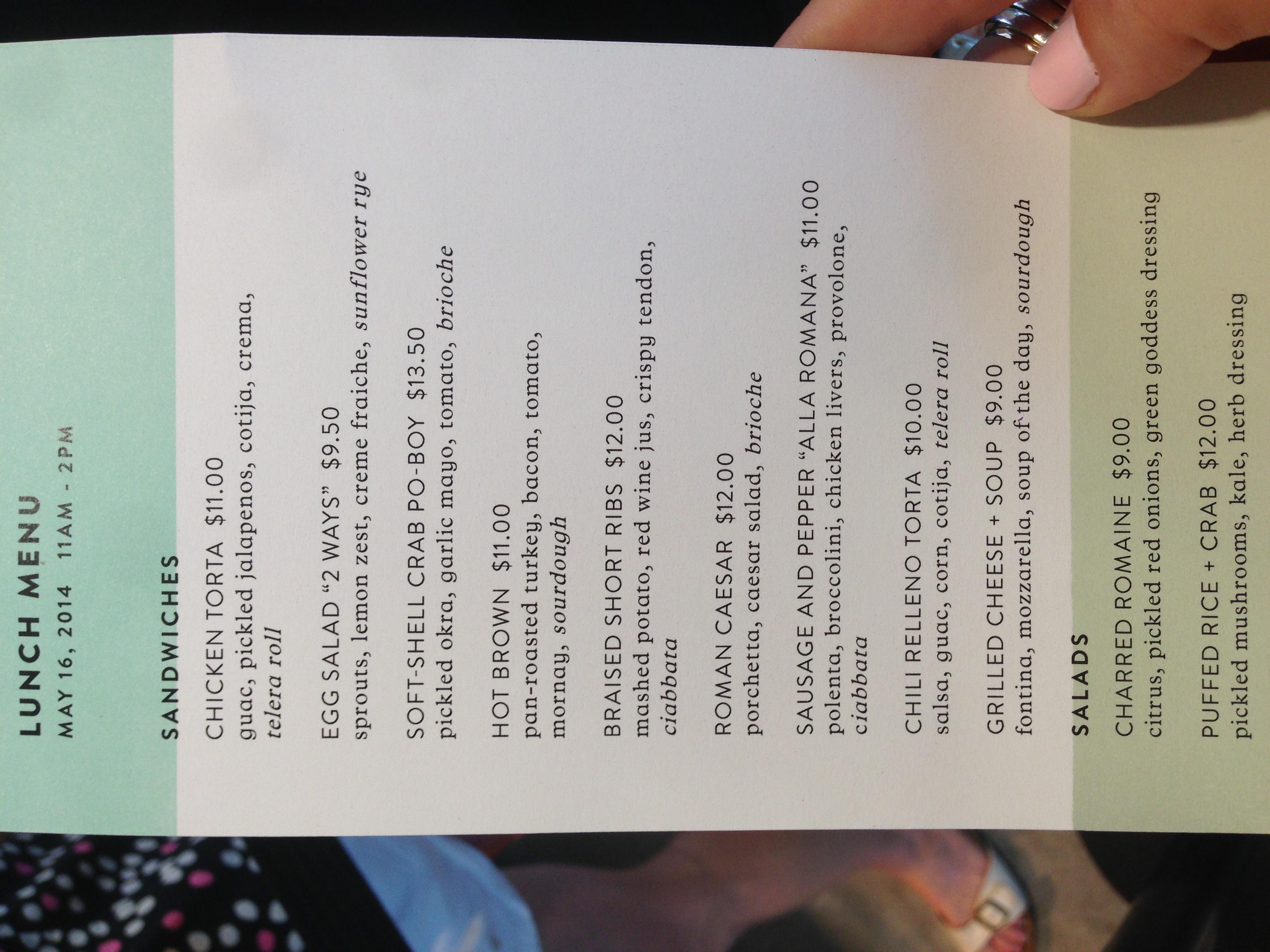 common bond menu 1