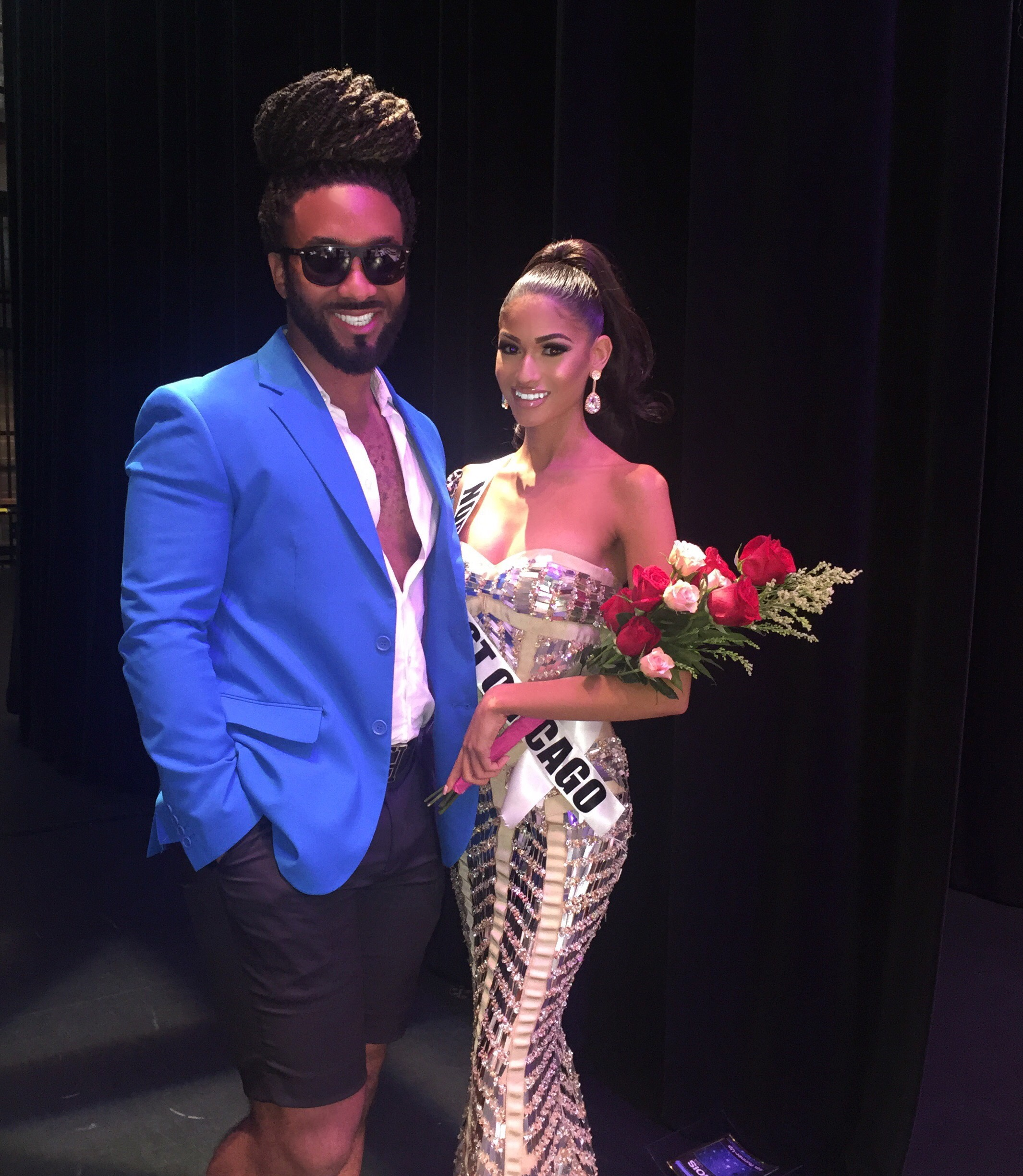 Jonathan Abernathy and Client Angel Reyes, 4th Runner up Miss Illinois USA 2017
