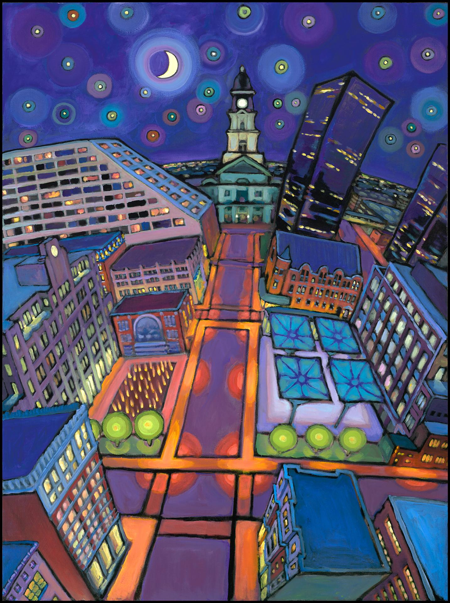 Main St. Starry Night
