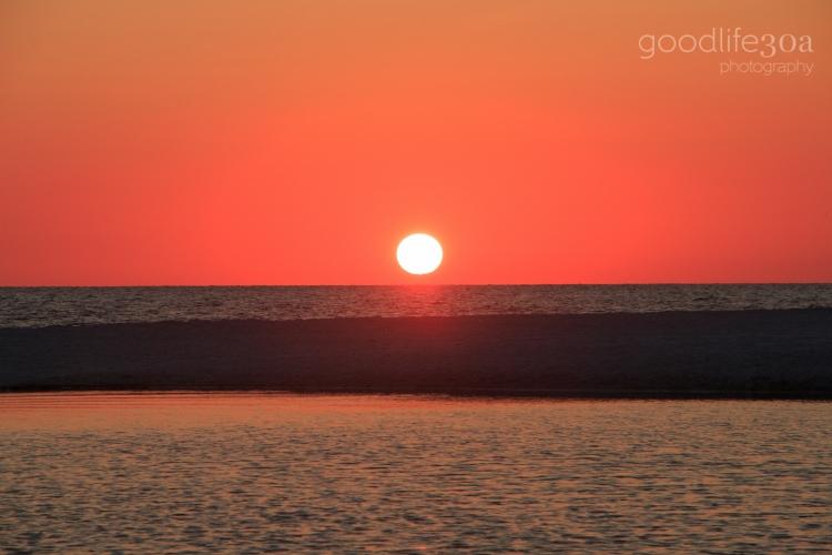 sunsets - solid sun eastern lake.jpg