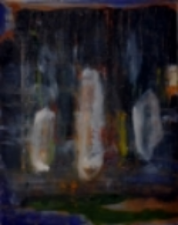 """""""Seedlight: Three Seeds,"""" 2014. Oil on canvas"""