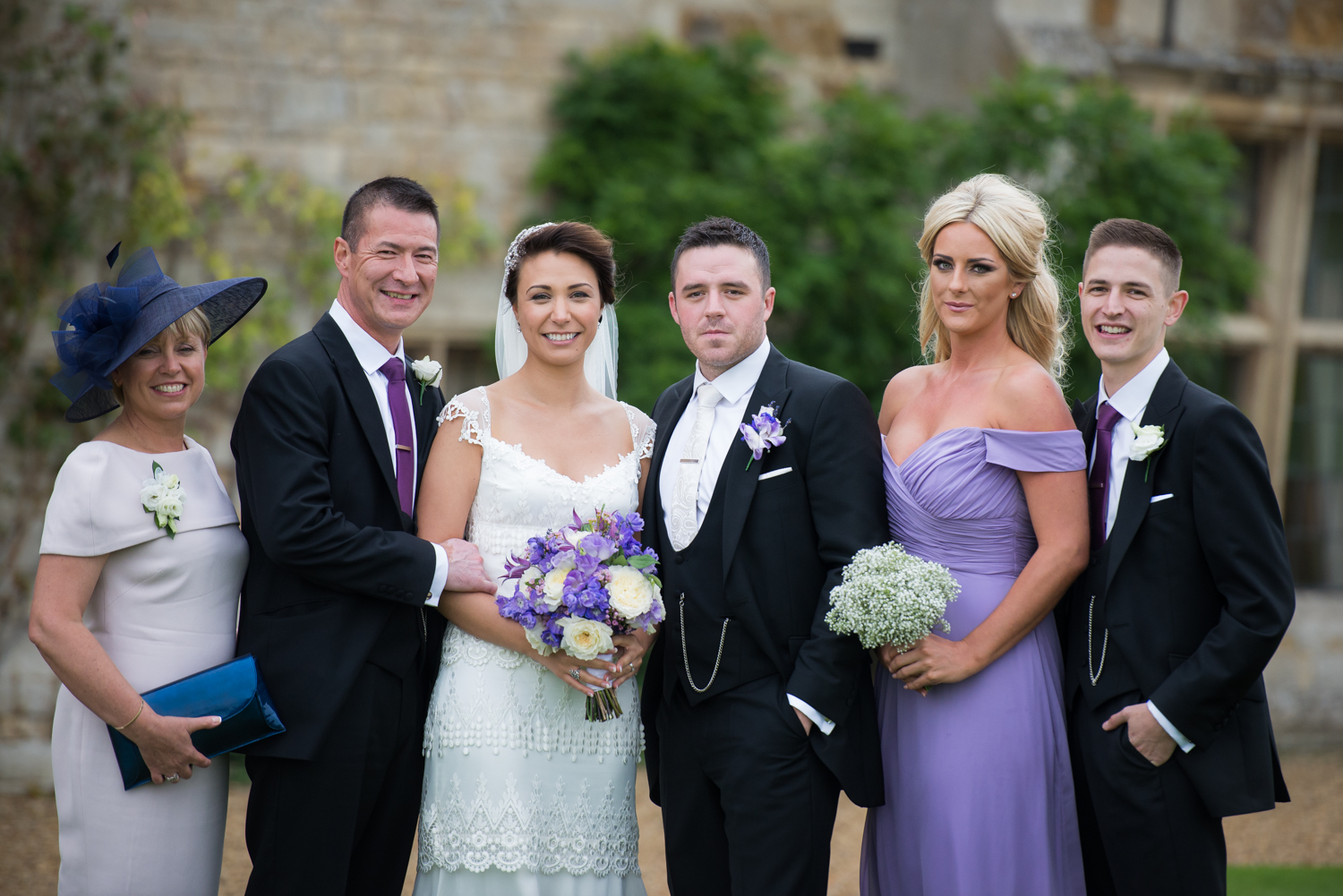 family formal photograph at Rocking Castle Wedding