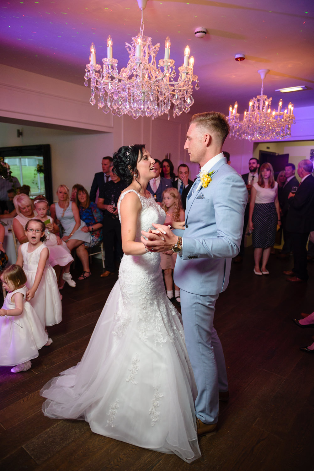 Bride and groom first dance at The Old Vicarage Boutique Hotel Wedding