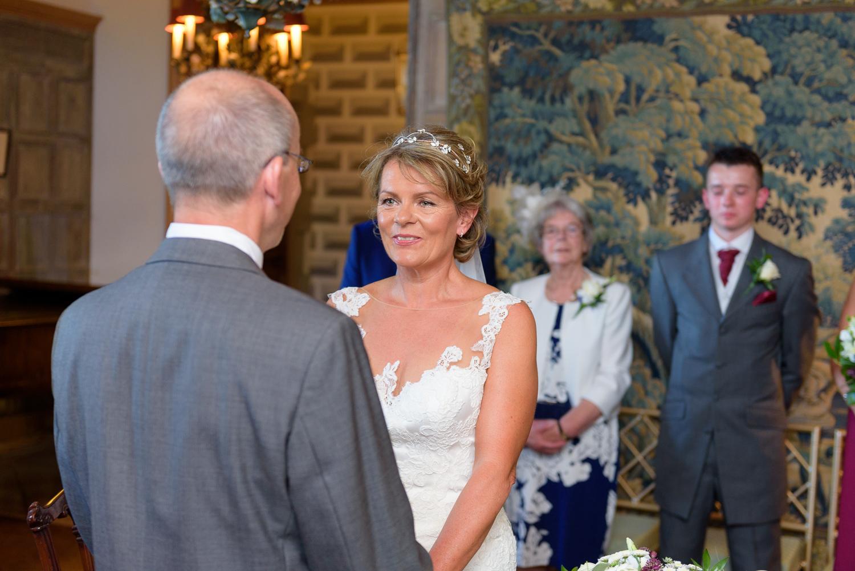 wedding ceremony at hassop hall