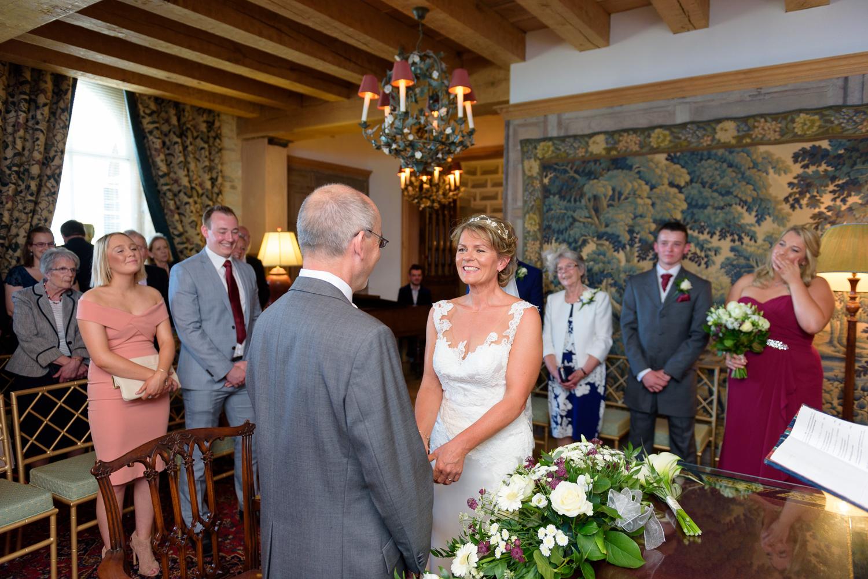 Hassop hall wedding ceremony