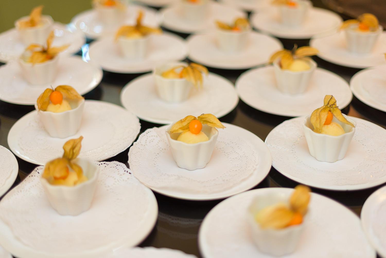 wedding food at hassop hall