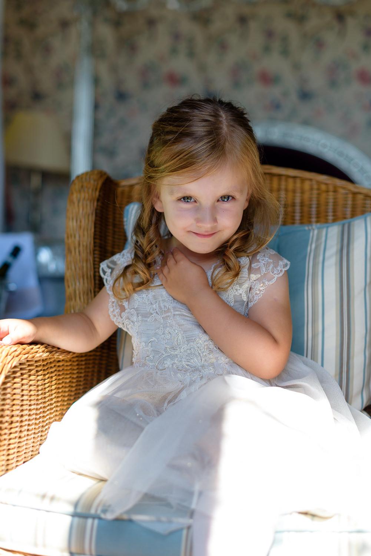 Flower girl at Callow Hall wedding