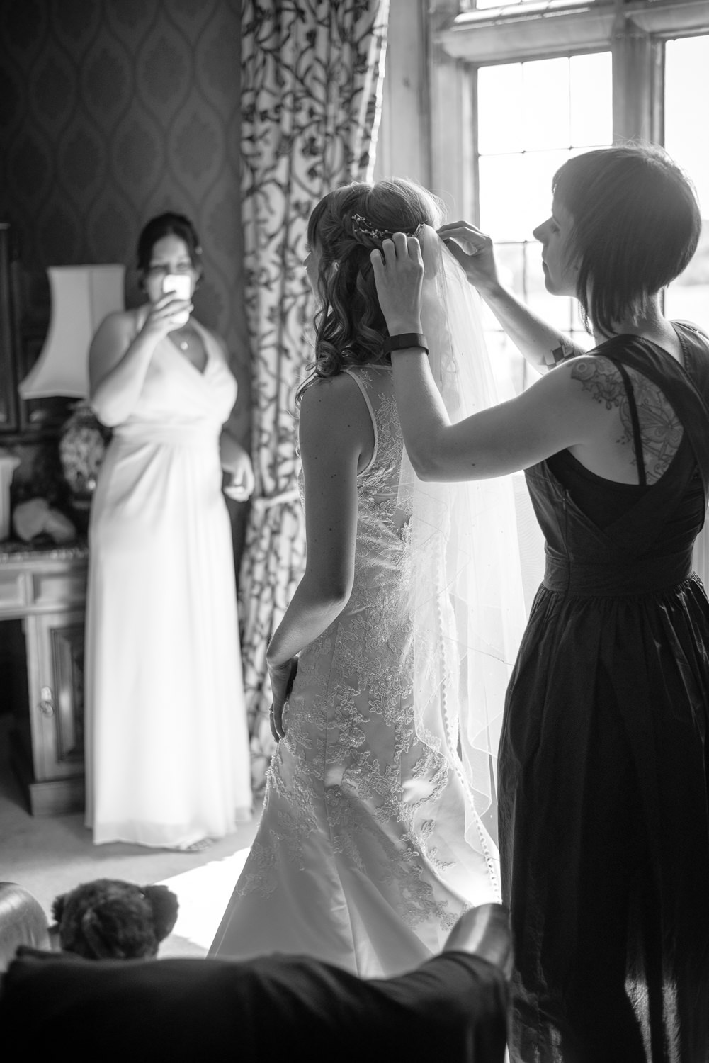callow hall bridal suite