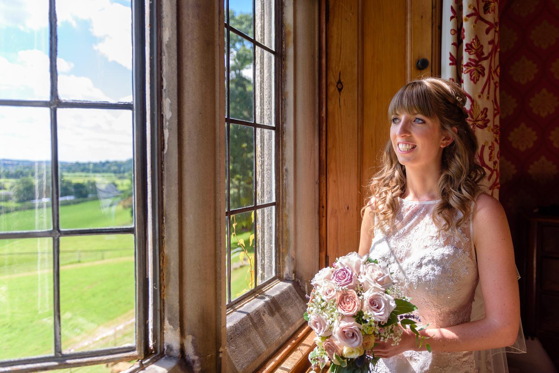 Window light portrait at Callow Hall