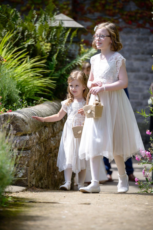 Flower girls at Callow Hall wedding