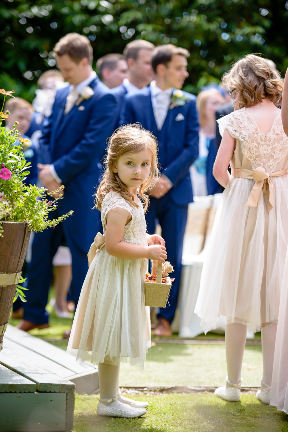 flower girl at Callow Hall