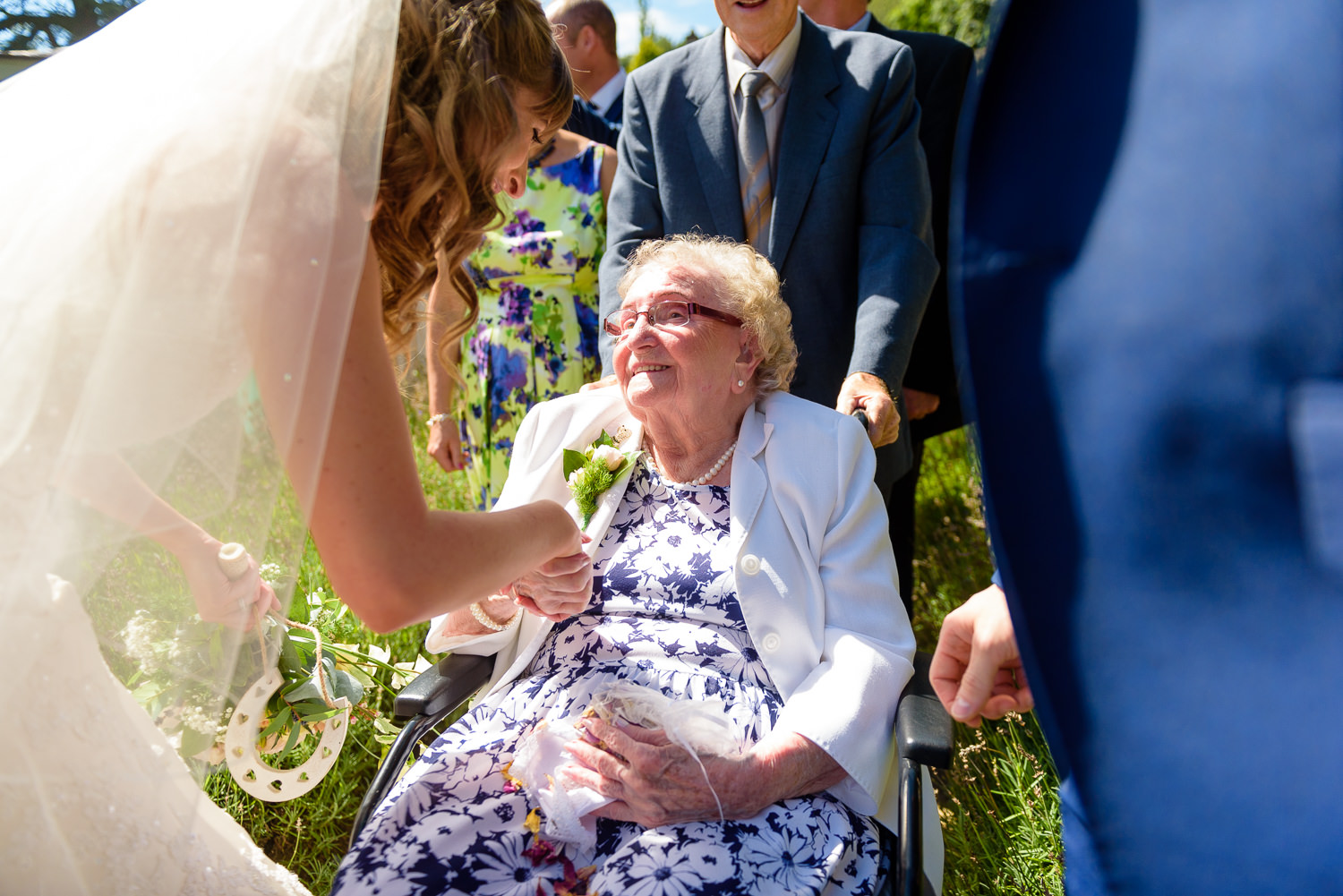 bride and her grandmother at Callow Hall wedding