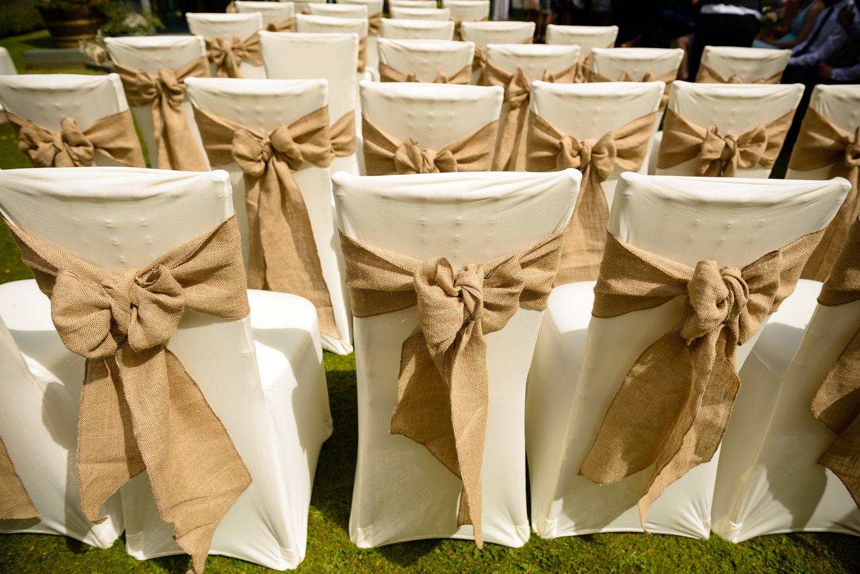 outdoor wedding ceremony at Callow hall wedding