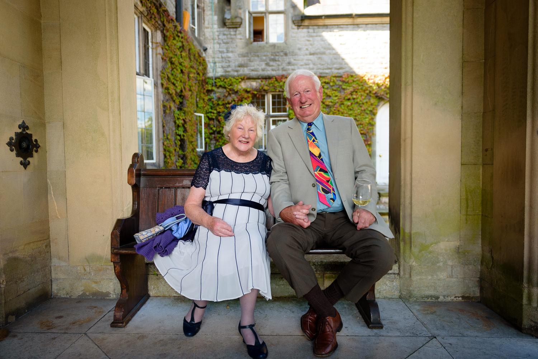 Grandparents at Callow Hall wedding