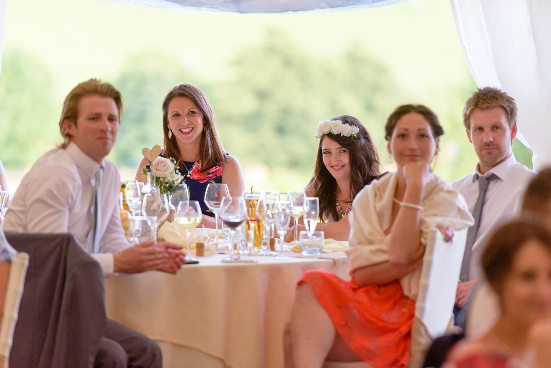 Wedding speeches at Callow Hall wedding