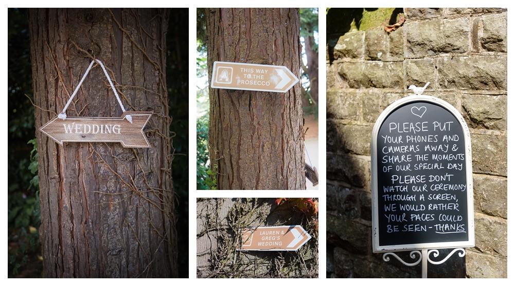 Callow hall wedding secret garden