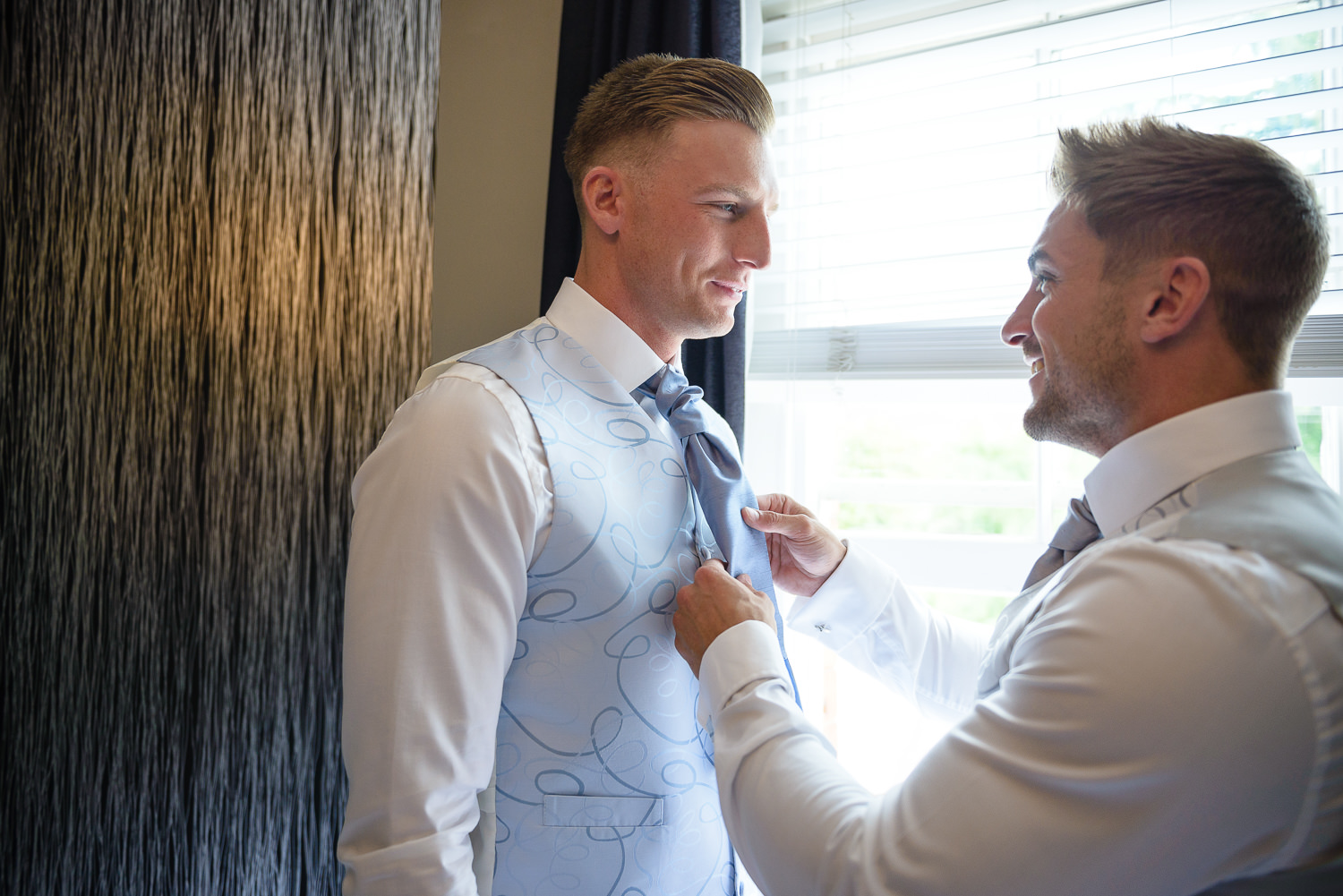 groom prep at The Old Vicarage boutique Hotel