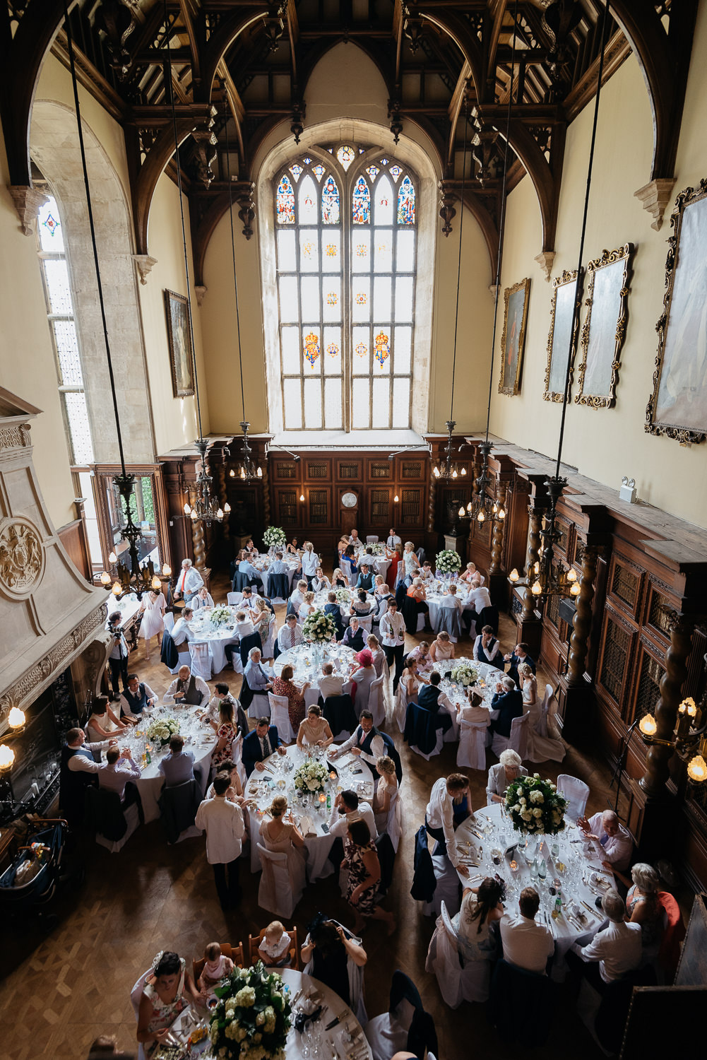 The great hall at burghley house
