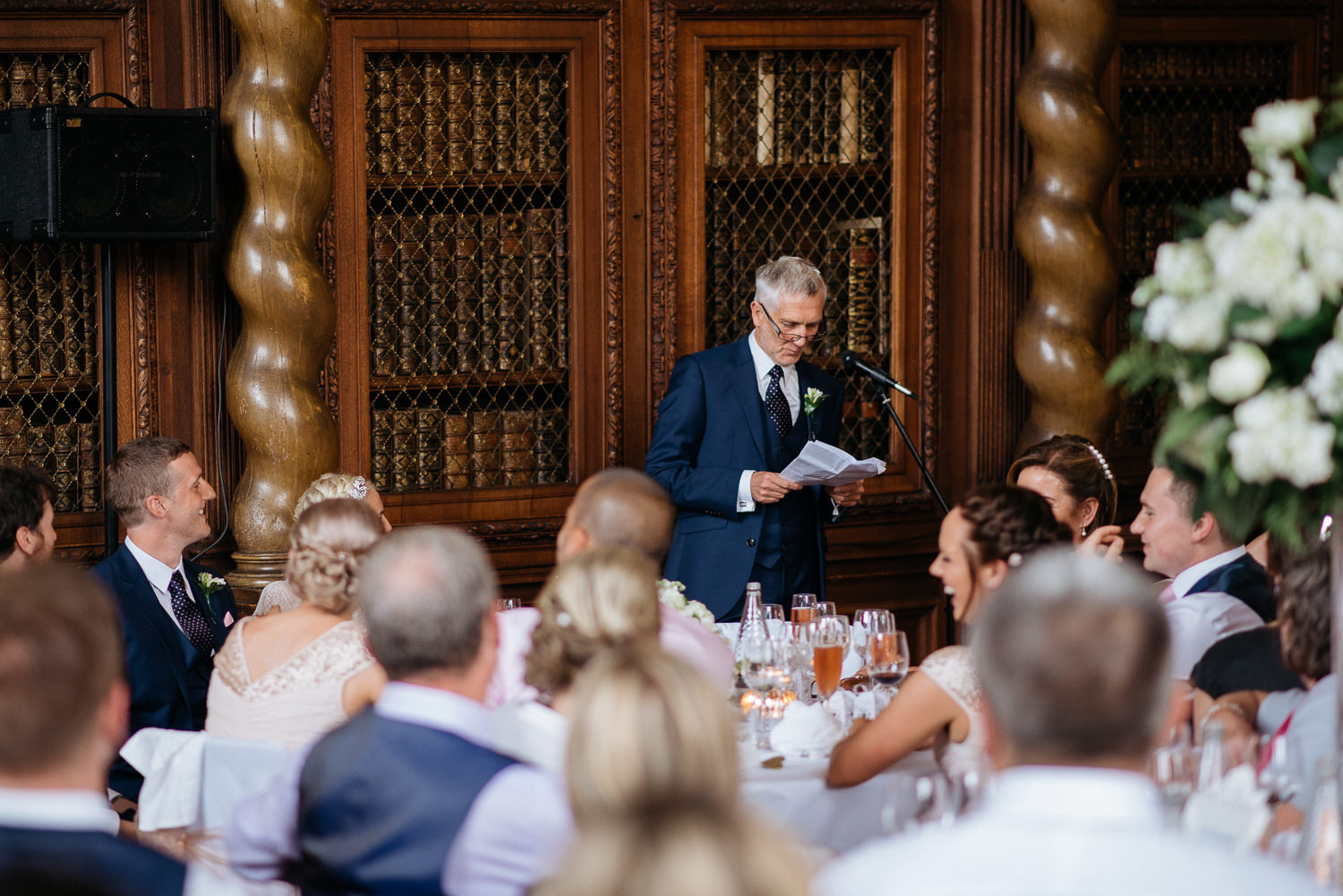 father of the brides speech at burghley house