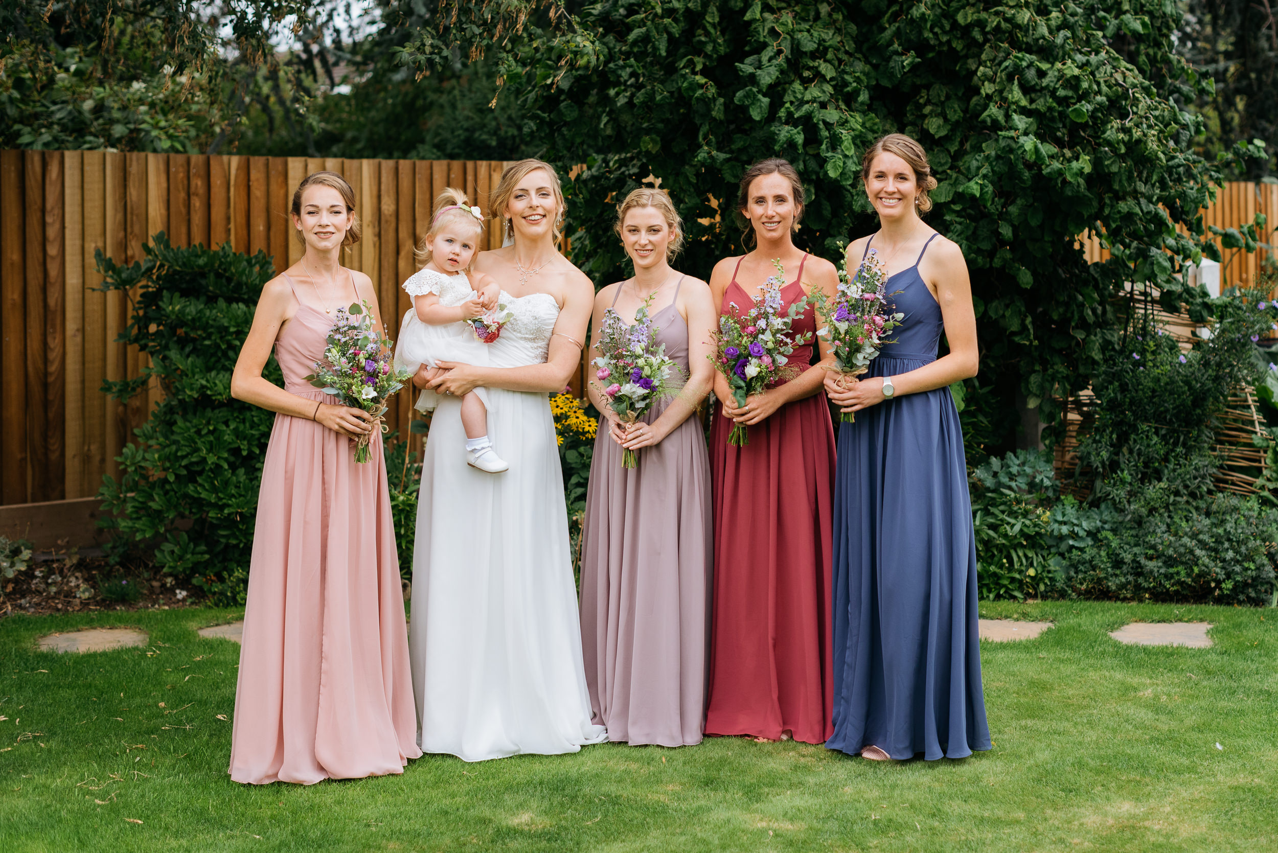 A photograph of the bride and her bridesmaids