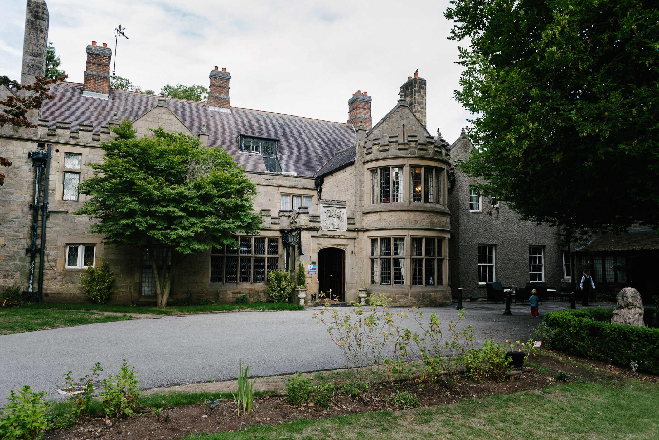 Risley Hall front entrance
