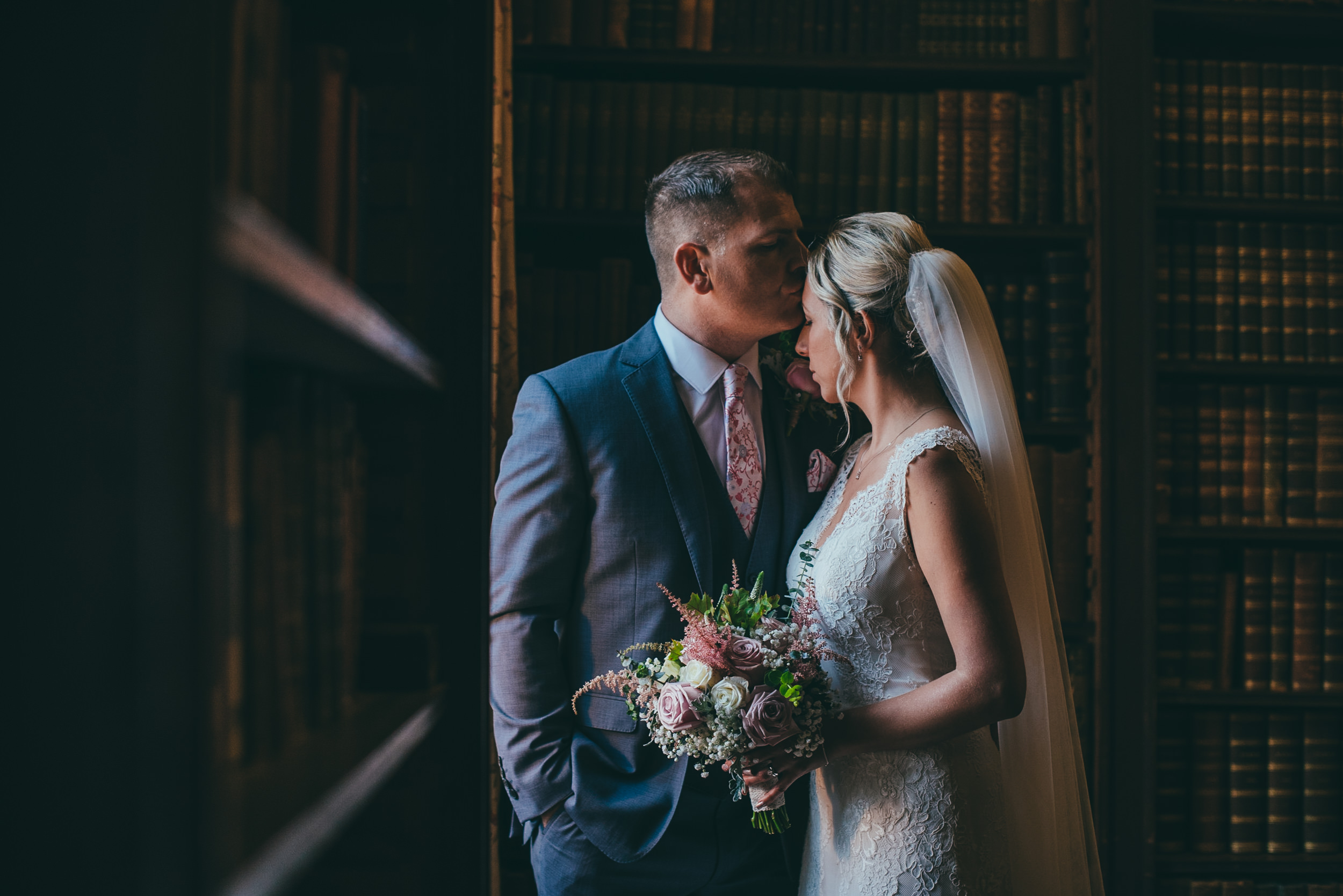 Winter wedding at Norwood Park in Southwell, Nottingham. Image by Matt Andrew Photography