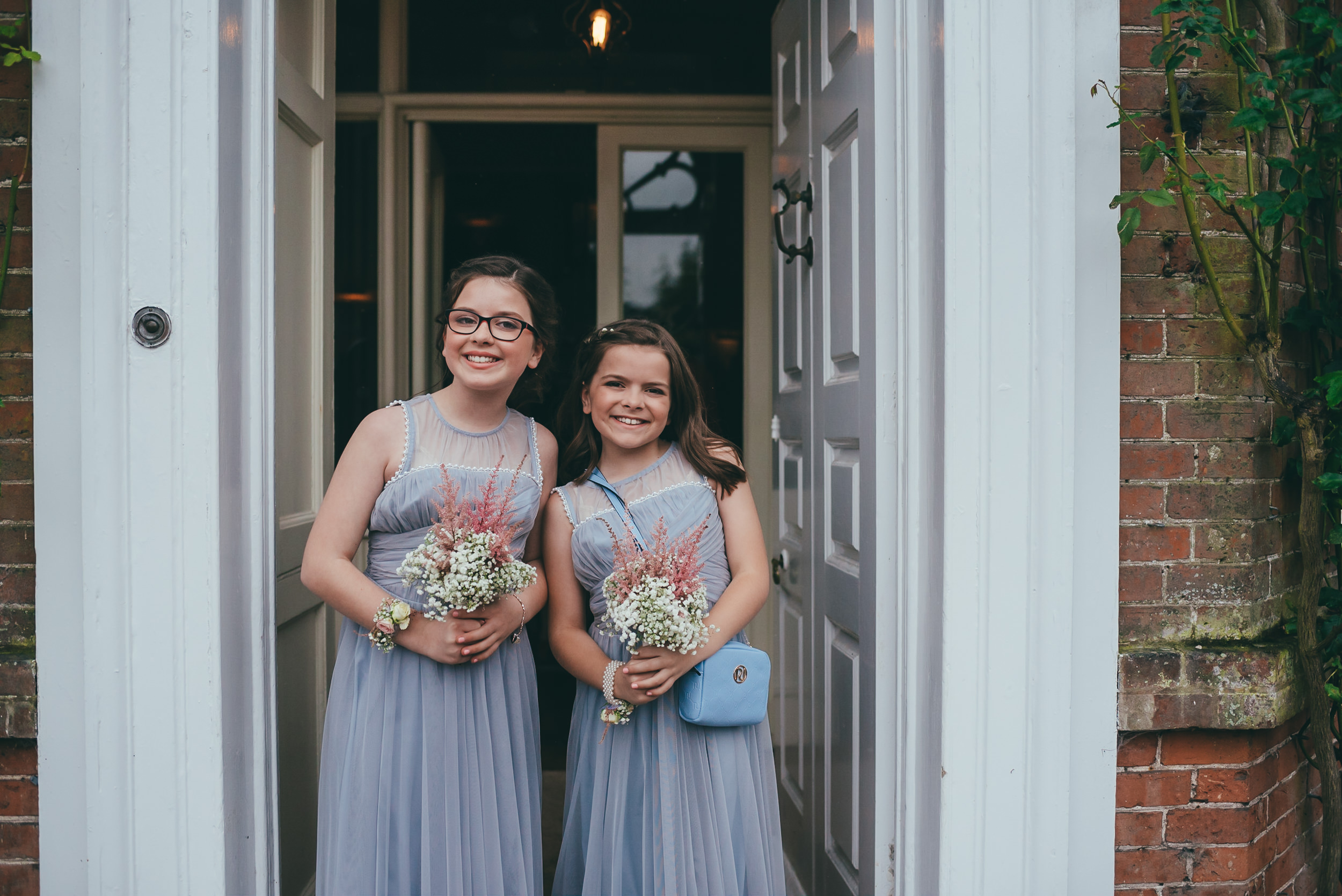 Photograph of two bridesmaids