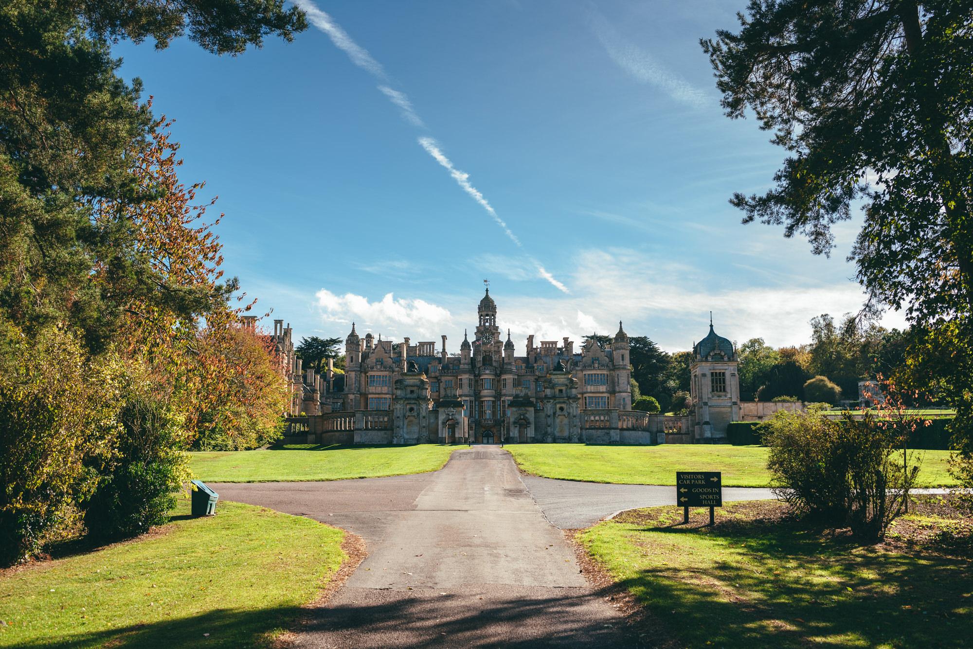 the long drive at Harlaxton Manor