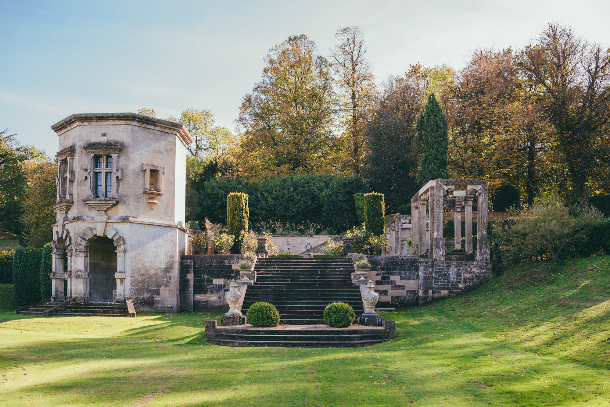 The grounds at harlaxton manor
