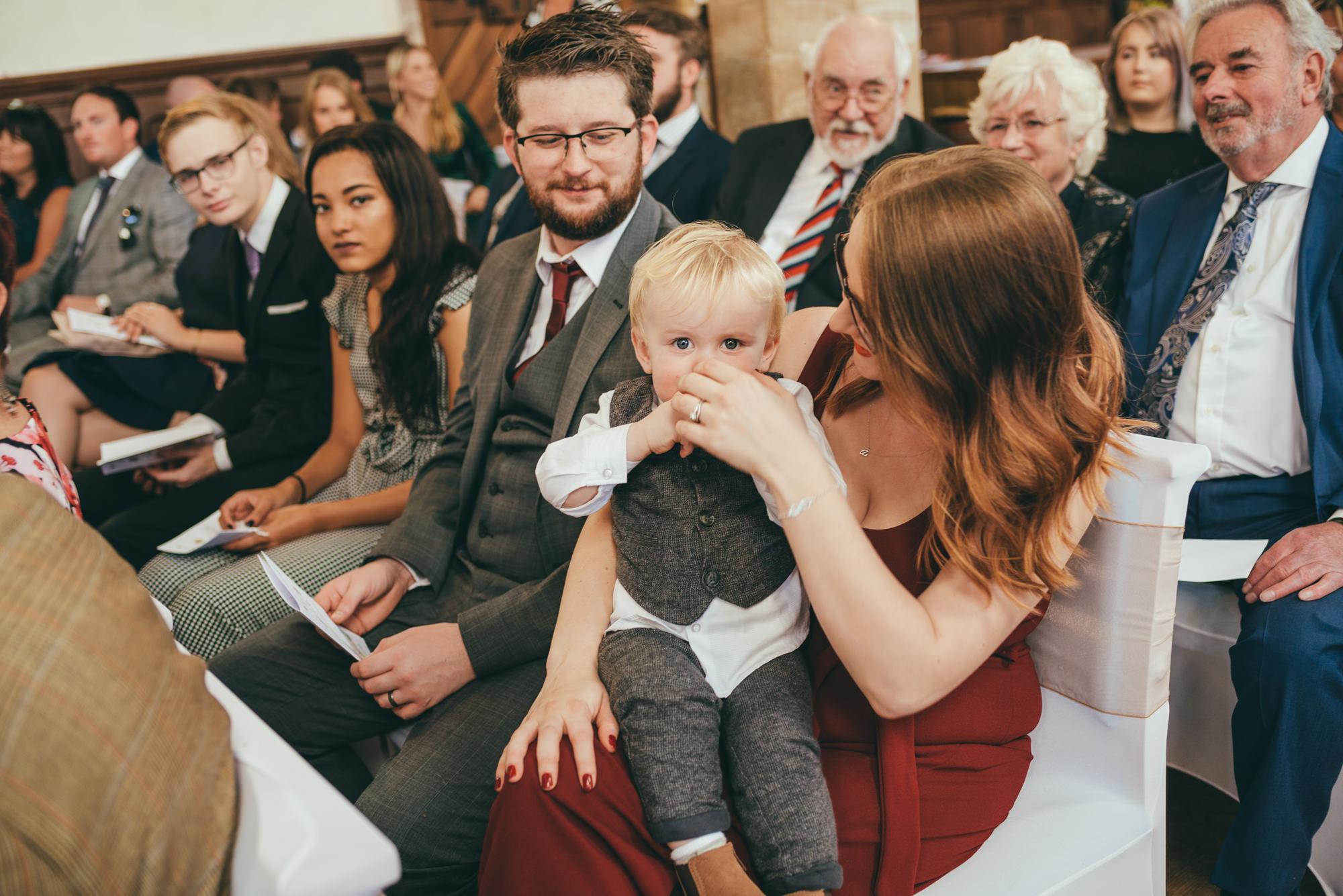 baby in church