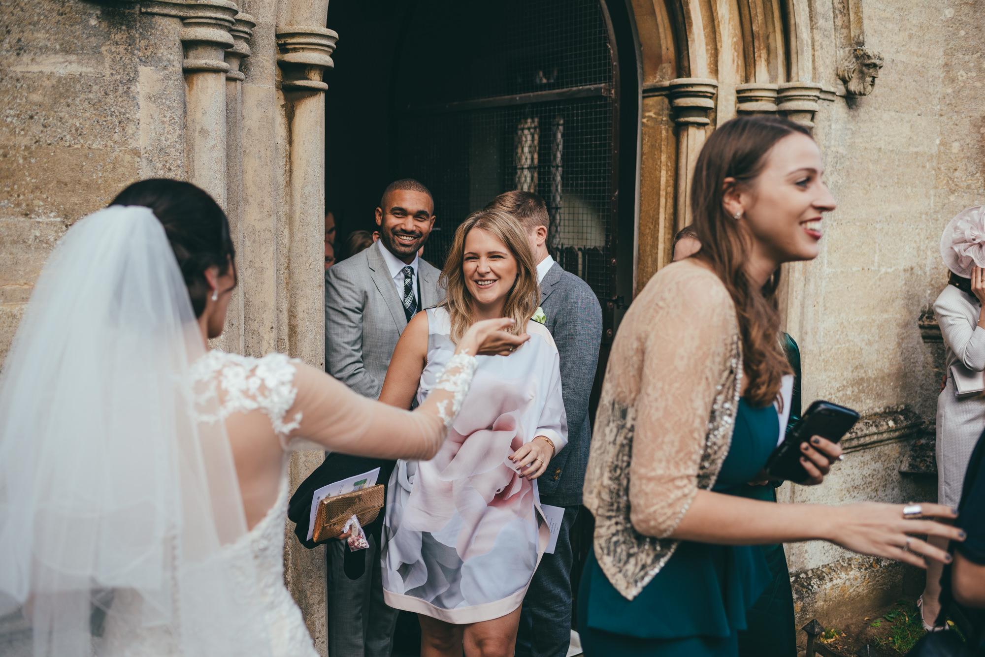 guests congratulate the bride