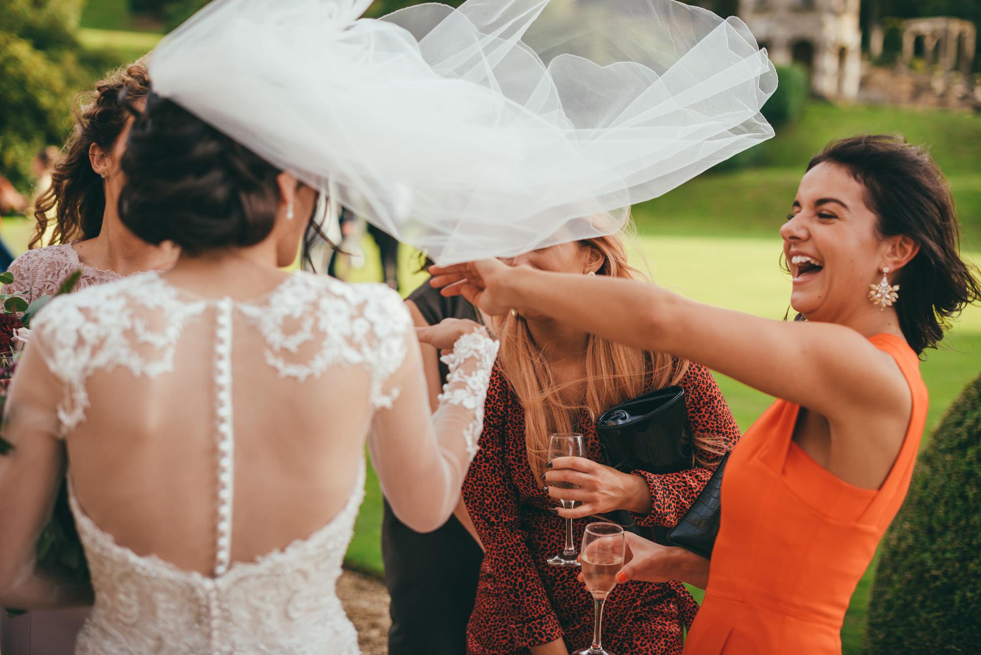 wind blows brides veil
