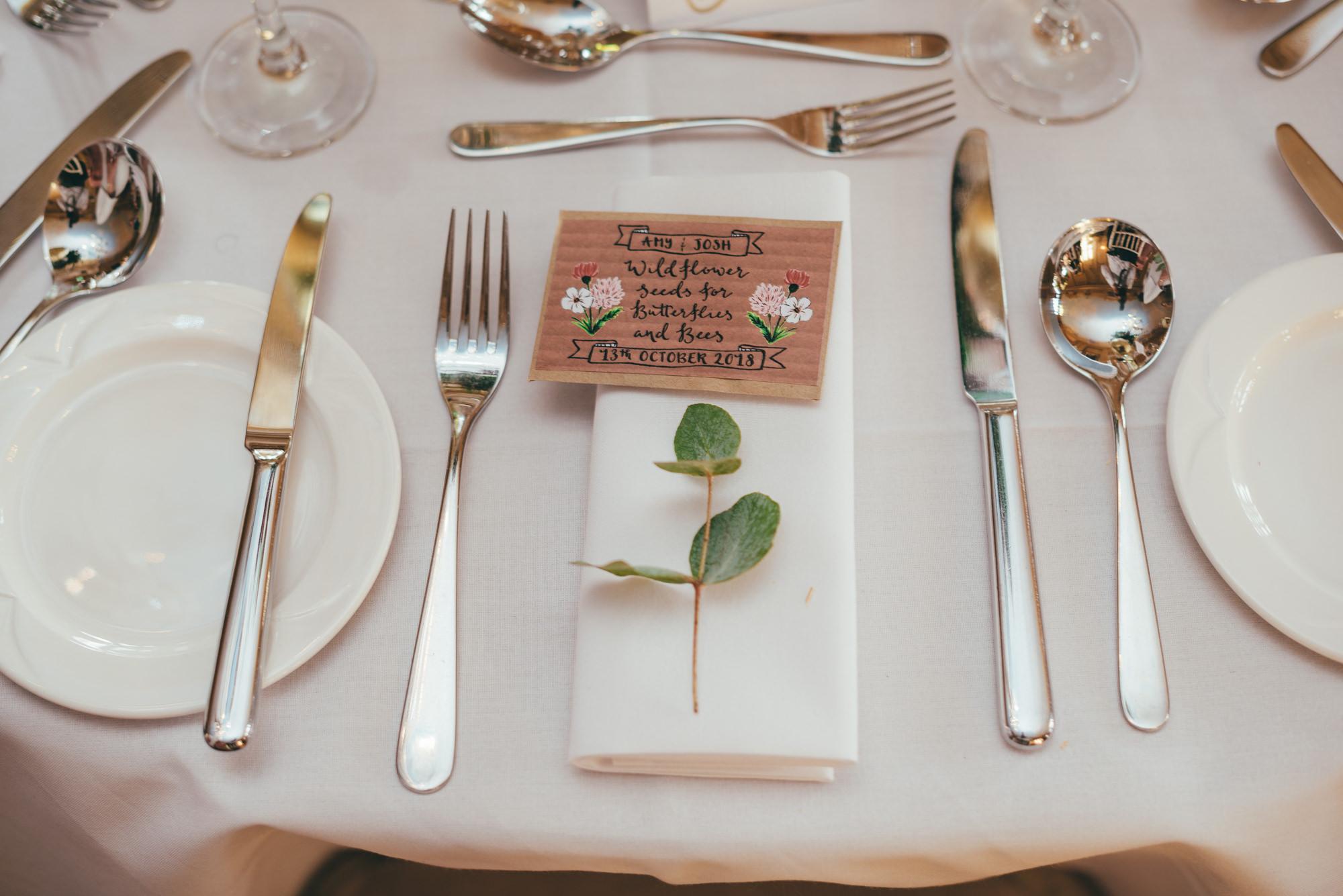 table setting at harlaxton manor