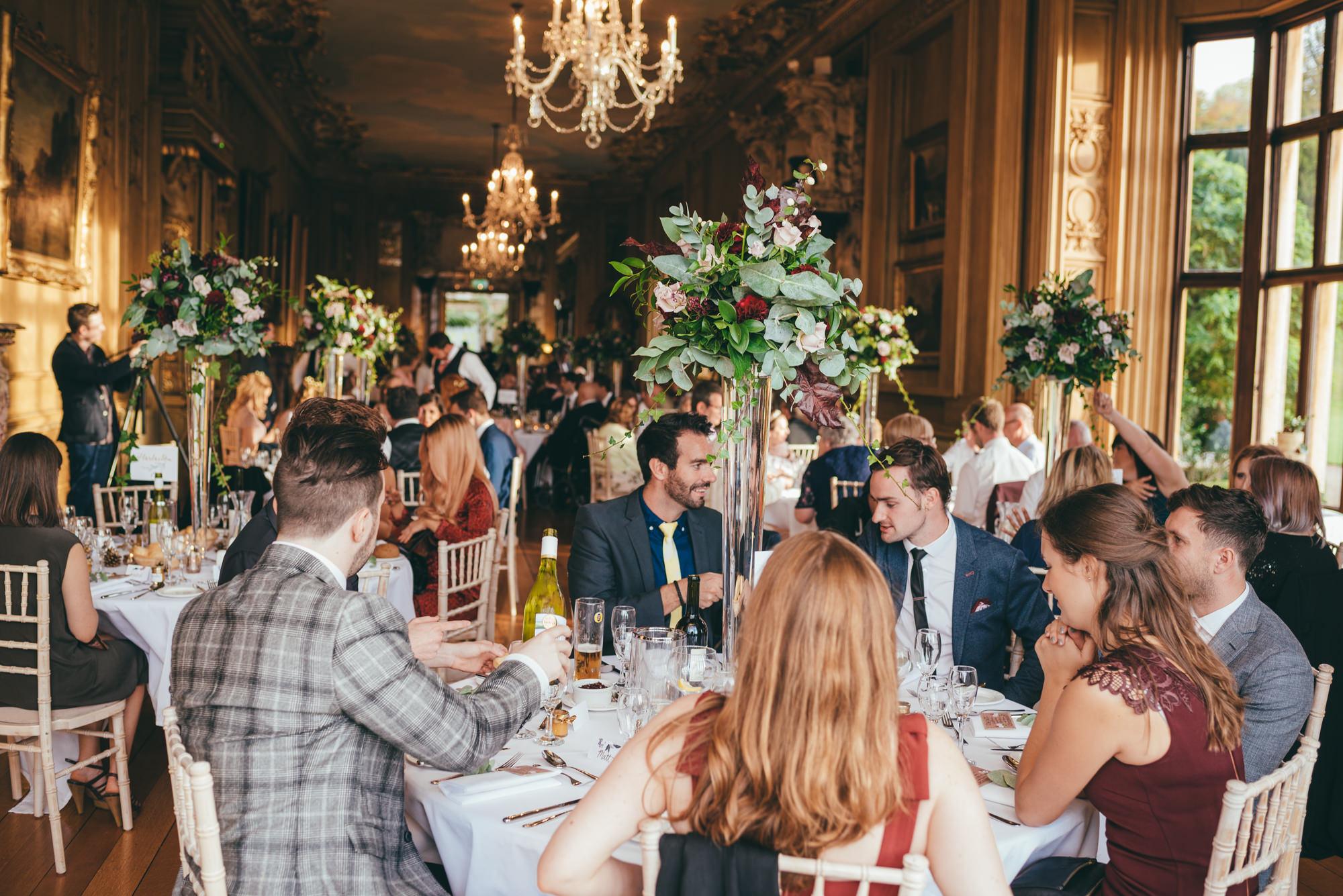 wedding breakfast at harlaxton manor