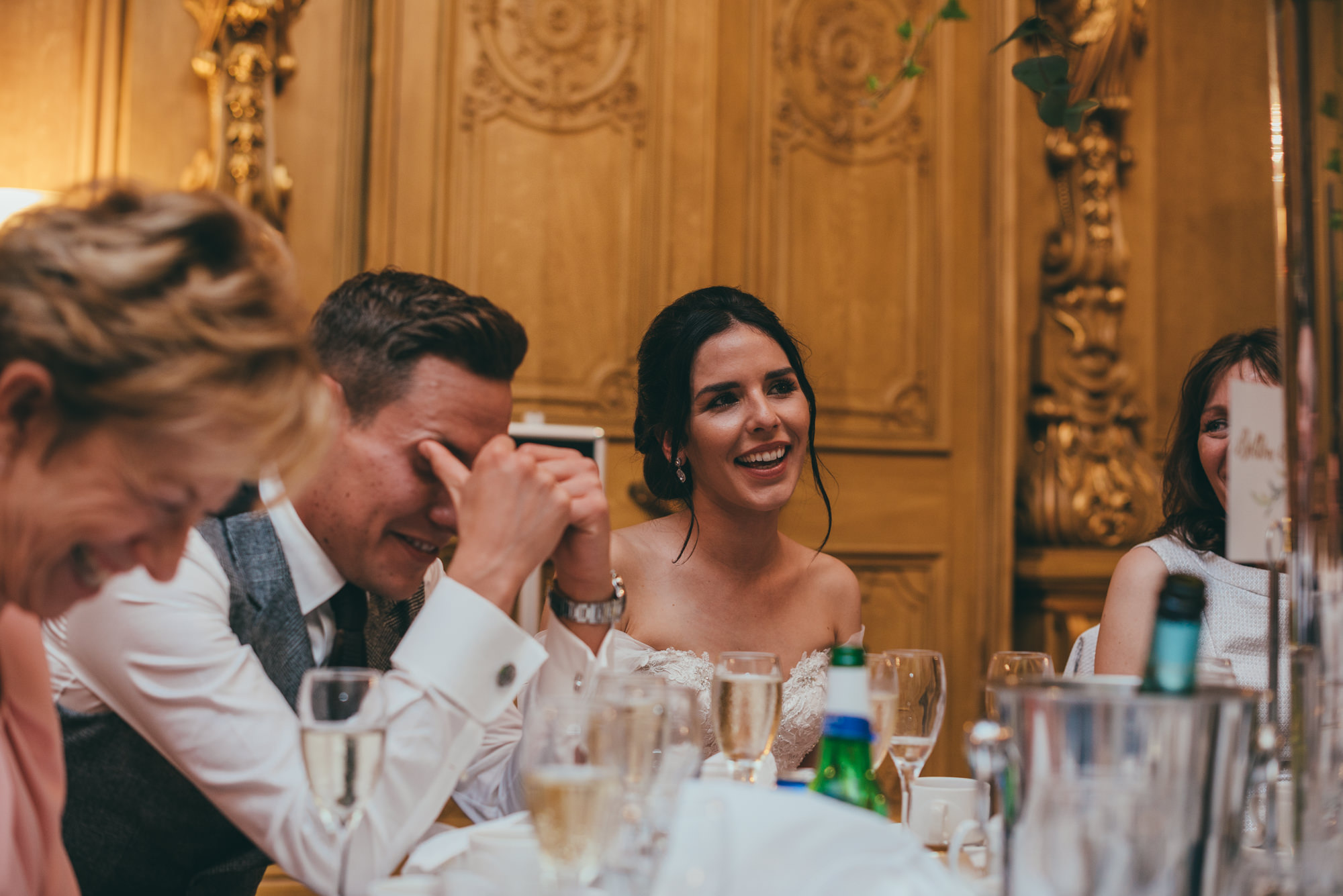 groom reactions to the speeches