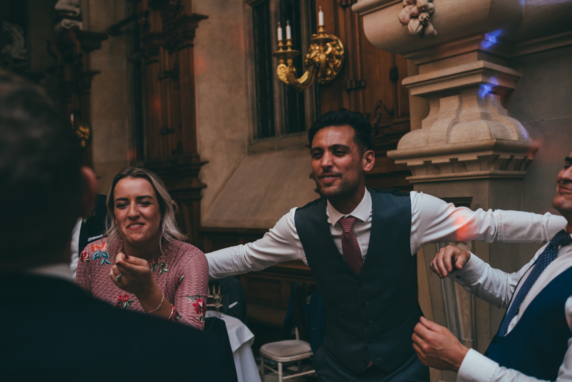 guests dancing at harlaxton manor
